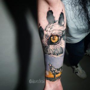 wolf viking tattoo colour sleeve