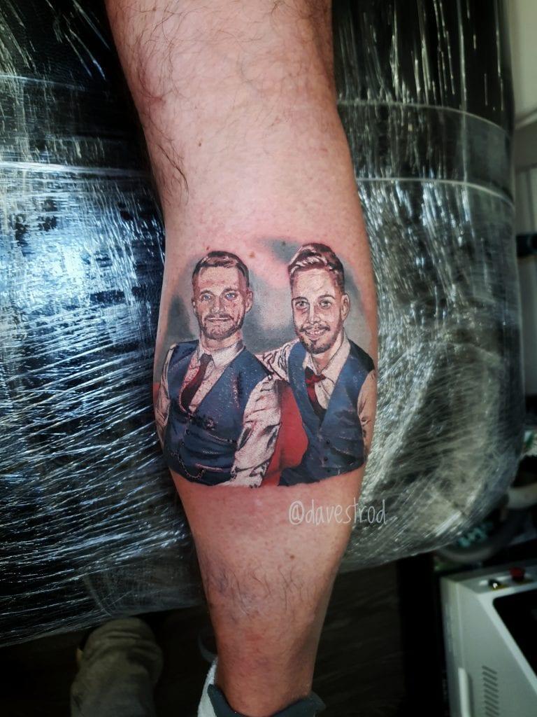 colour tattoo portrait barber dts