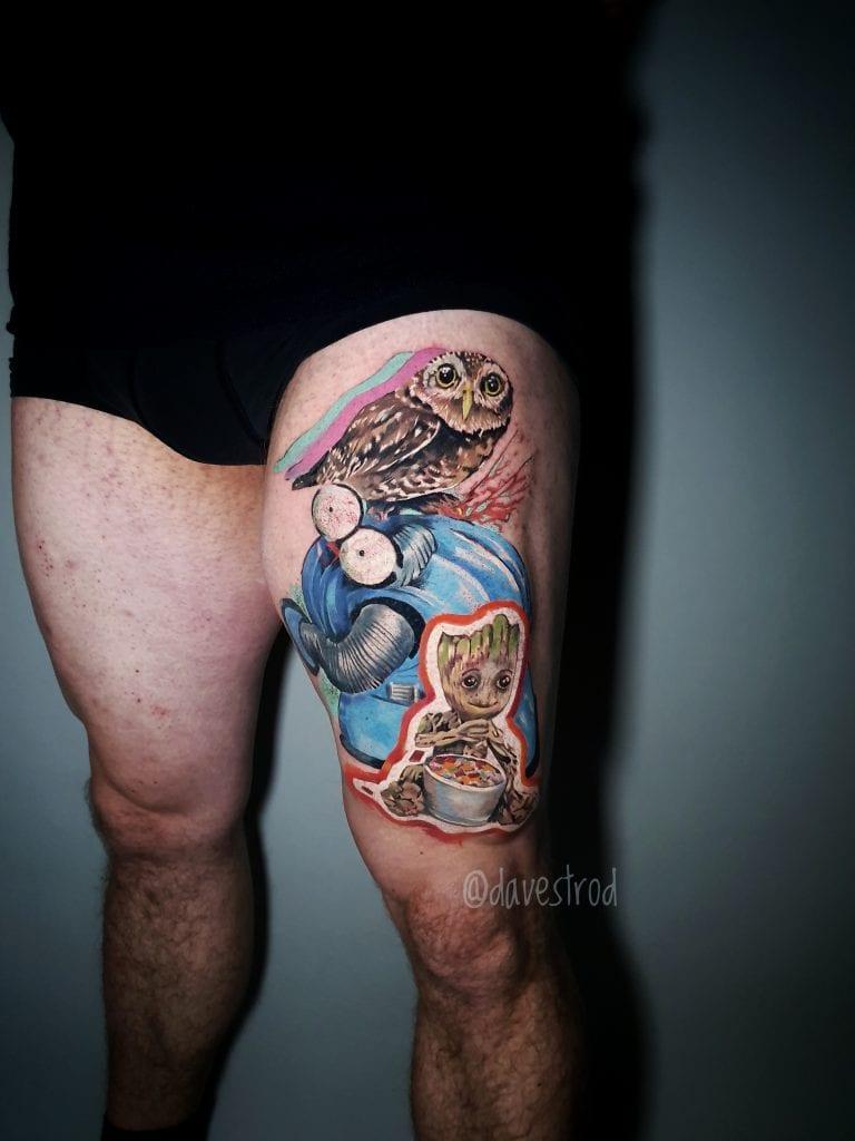 colour groot viking tattoo